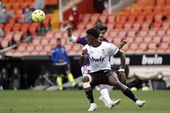Thierry Correia admitió que lo pasó mal al llegar a Mestalla. EFE