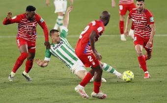 Canales y Willian José se ejercitaron al margen. EFE