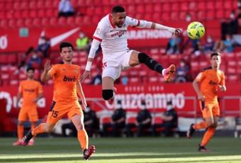 'En-Nesyri a un potentiel incroyable, mais il ne faut pas le comparer à Salah'. EFE/Julio Muñoz