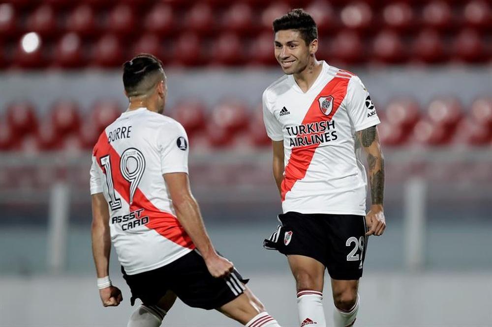 El Atlético le echó el ojo a Gonzalo Montiel. EFE