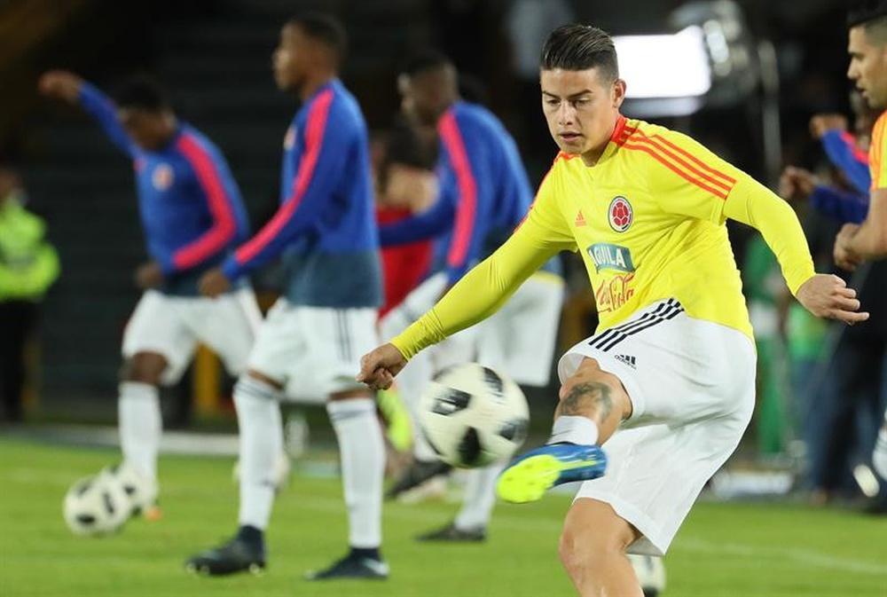 James a fait l'éloge des qualités de Luis Díaz. EFE