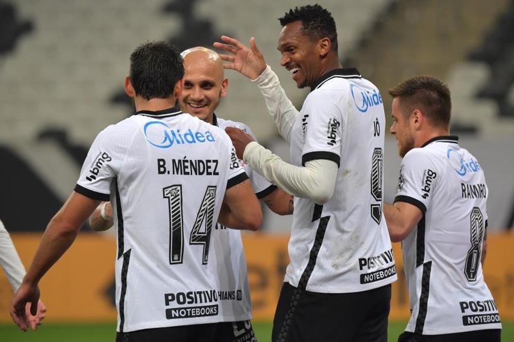 Escalação do Corinthians contra o Atlético-GO. EFE/Nelson Almeida