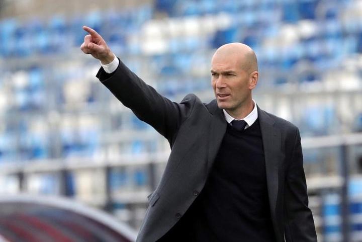 Zidane destacó el papel de su hijo Luca ante el Girona. EFE
