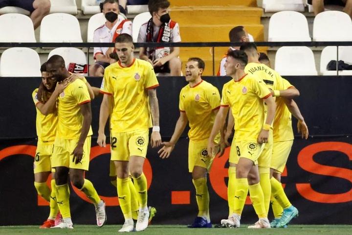 El Girona, a 90 minutos de Primera División. EFE