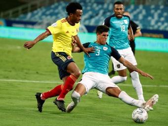 Cardona dio la victoria a Colombia con su gol. EFE