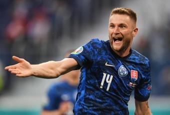 Eslovaquia derrotó a Polonia. EFE
