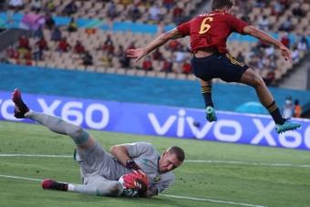 Robin Olsen jugó la Eurocopa con Suecia. EFE