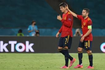 Ferran, Thiago et Gerard en attaquant de pointe devraient être dans le onze contre la Slovaquie. EFE