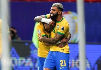 Resenha entre Neymar e Gabigol agita torcida do Flamengo. EFE/Fernando Bizerra Jr