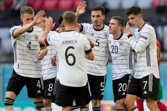 Portugal até que tentou, mas Alemanha atropelou. EFE/EPA/HUGO DELGADO