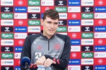 Andreas Christensen s'est exprimé en conférence de presse avant le choc contre l'Anlgeterre. EFE