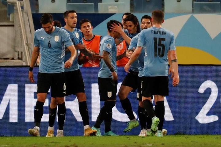 Uruguay venció a Bolivia 0-2. AFP