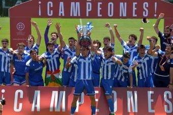El Deportivo, campeón de la División de Honor Juvenil. EFE/Antonio Paz