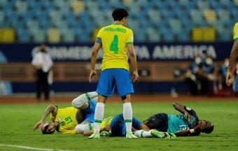 Marquinhos é desconvocado da Seleção Brasileira. AFP