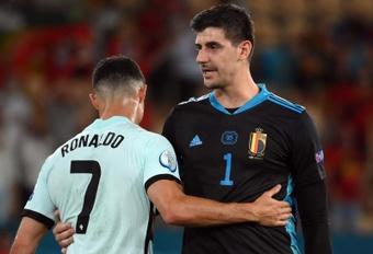 Courtois salue le travail défensif belge contre le Portugal. EFE