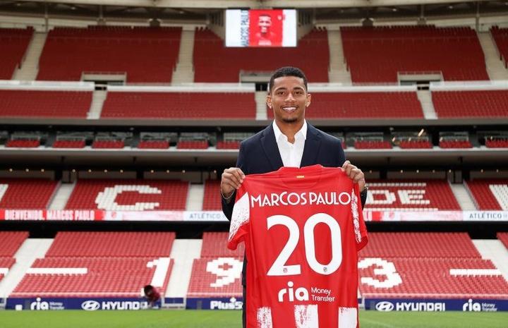 Quatre clubs s'intéressent à Marcos Paulo. EFE/Atlético de Madrid