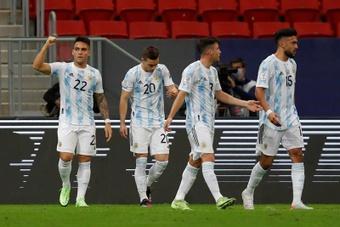Lautaro habló sobre la Copa América y la ayuda de psicólogos. EFE