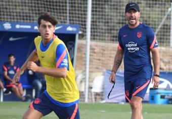 Simeone récupère quelques cadres de l'équipe. EFE