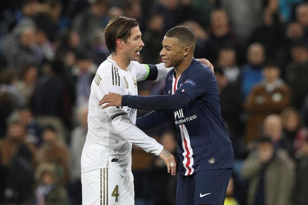 Sergio Ramos será una figura importante en la decisión de Mbappé. EFE