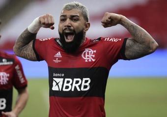 Gabigol recibirá una denuncia tras sus palabras en el encuentro ante Inter de Porto Alegre. EFE
