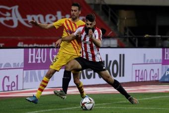 Compos probables : Athletic Bilbao-FC Barcelone. EFE