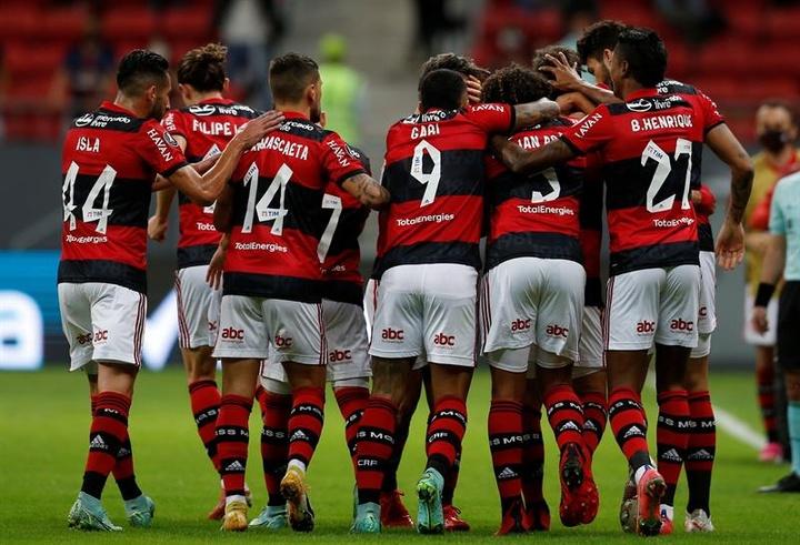 Flamengo arrasador está nas semifinais da Libertadores.EFE