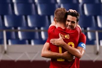 El entrenador del RB Leipzig confirmó la lesión de Dani Olmo. EFE