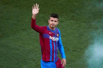 Piqué deixou claro que está triste com o adeus de Leo. AFP