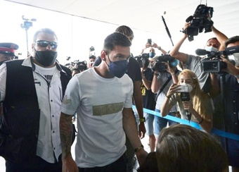 Messi, in Barcelona after being left out of the PSG squad. EFE