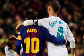 Ramos and Messi could be battling it out to take spot kicks for PSG next season. EFE