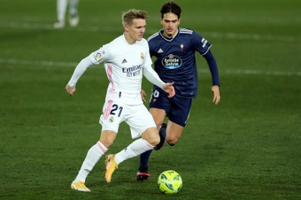 Odegaard joined Madrid at the age of 16. EFE