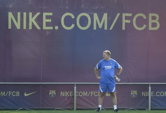 Javier Saviola elogió a Koeman y a su trabajo en el Barcelona. EFE