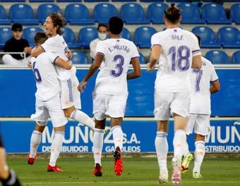 El Real Madrid se impuso en Vitoria. EFE