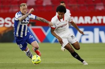 Koundé volvió a jugar con el Sevilla. EFE/Archivo