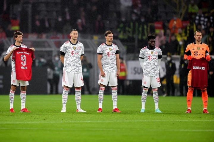 El homenaje del Bayern al 'Torpedo' Müller. EFE