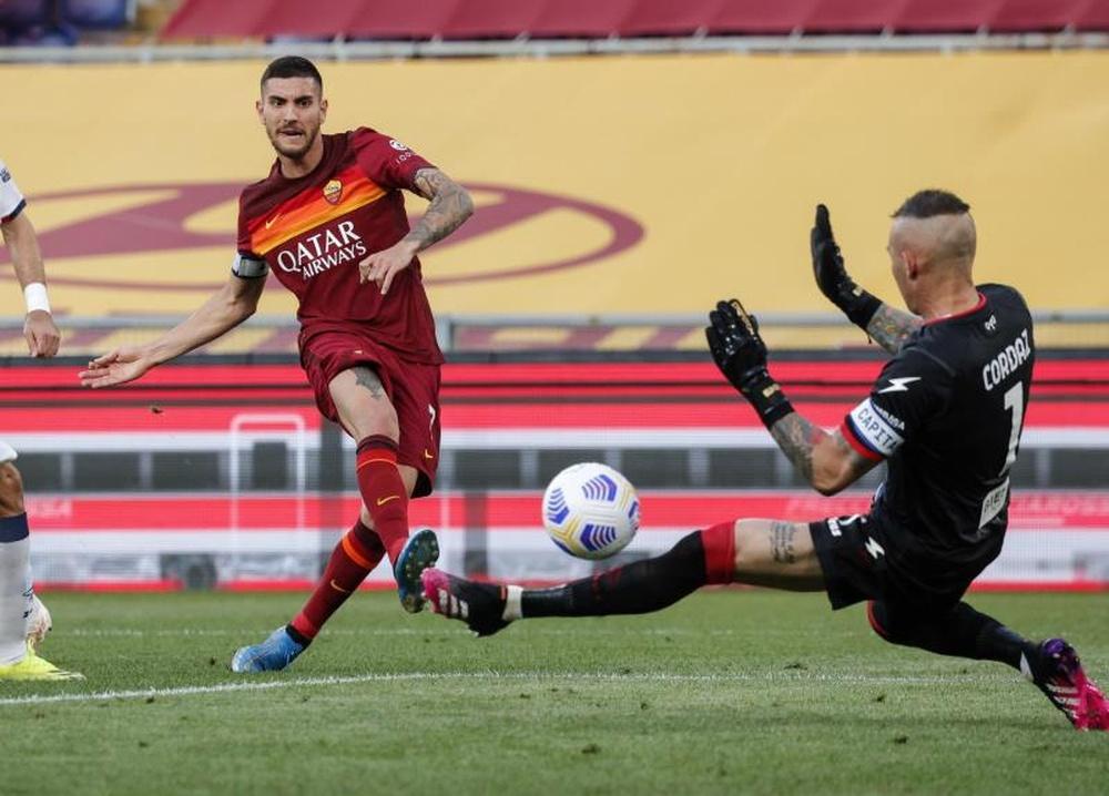 Lorenzo Pellegrini fue titular en todos los encuentros que ha jugado esta temporada con la Roma. EFE