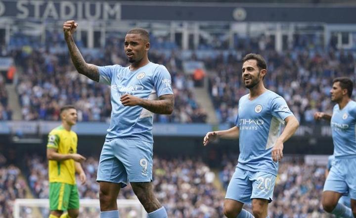 Manchester City venceu o Norwich por 5 a 0. EFE/EPA/ANDREW YATES