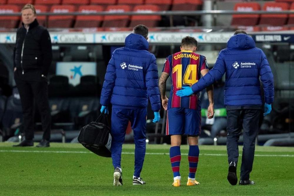 Coutinho volvió con el Barça ante el Bayern. EFE