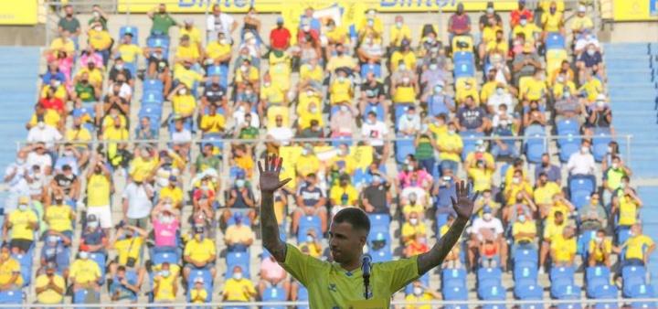 Jonathan Viera quiere reencontrarse en su casa con Las Palmas. EFE