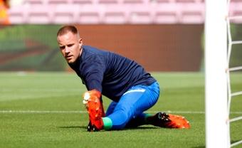 Ter Stegen regresó con el Barcelona. EFE
