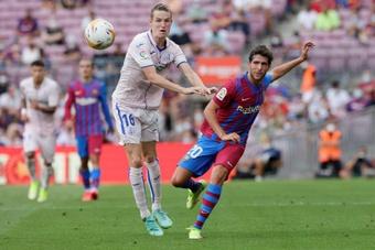 Sergi Roberto acabó desconsolado contra el Bayern. EFE