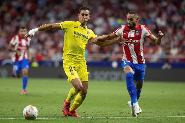 Cunha debutó con la camiseta del Atlético ante el Villarreal. EFE