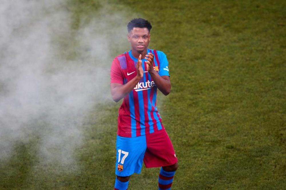 Ansu Fati podría renovar pronto con el Barcelona. EFE