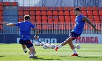 Mario Hermoso repasó la actualidad del Atlético. EFE