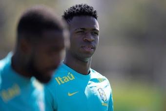 Vinicius, Neymar y ocho jugadores de la Premier, en la lista de Brasil. EFE