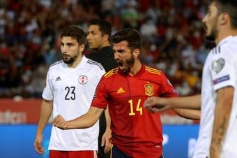 España logra una contundente victoria. EFE