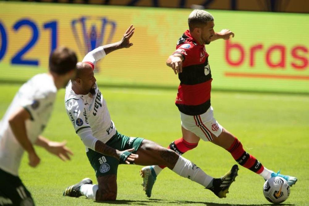 Qual é a escalação do Flamengo contra o Palmeiras, no Brasileirão? AFP