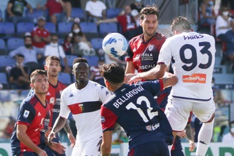 El Genoa venció 2-3 al Cagliari. Captura/BeINSport