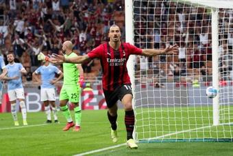 Ibrahimovic marque pour son retour. Capture/MovistarLigadeCampeones
