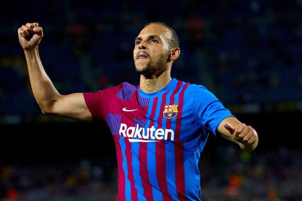 Braithwaite passará por cirurgia e desfalcará o Barça entre 3 e 4 meses. AFP